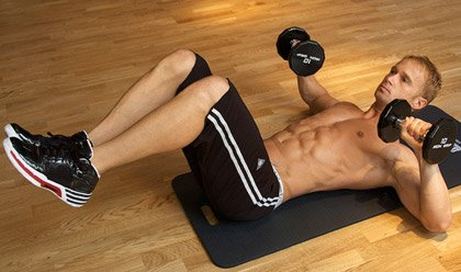 best dumbbell exercises for abs