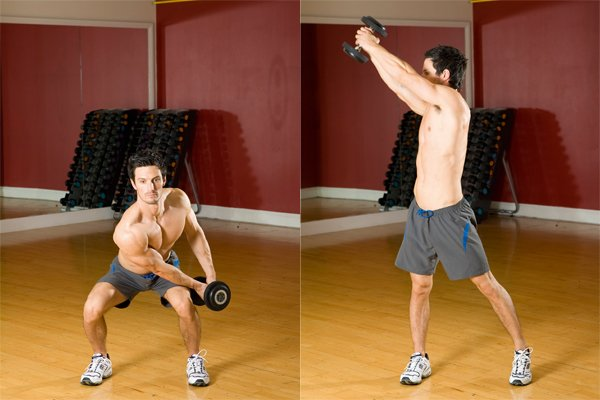 woodchop dumbbell exercises for abs