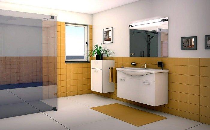 Contarst Colour - Bathroom Design