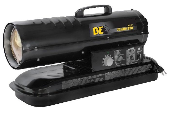 BE Pressure 70000 BTU Kerosene or Diesel Forced Air Heater