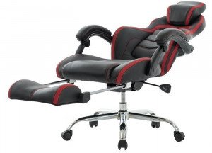 Viva Office High-Back Bonded Leather Recliner Chair with Footrest