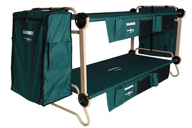 Disc-O-Bed Cam-O-Bunk Cot with 2 Organizers
