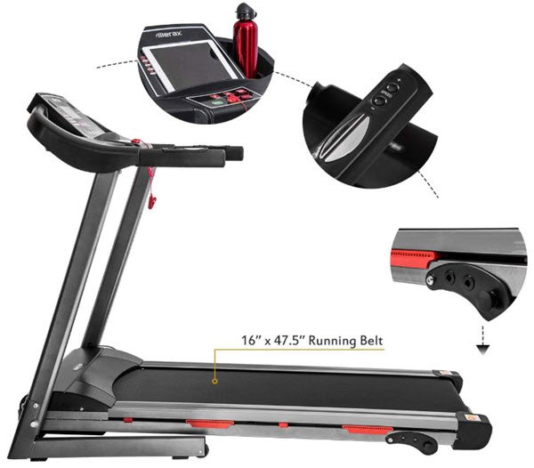GTR Power Pro 1100W Motorized Electric Treadmill