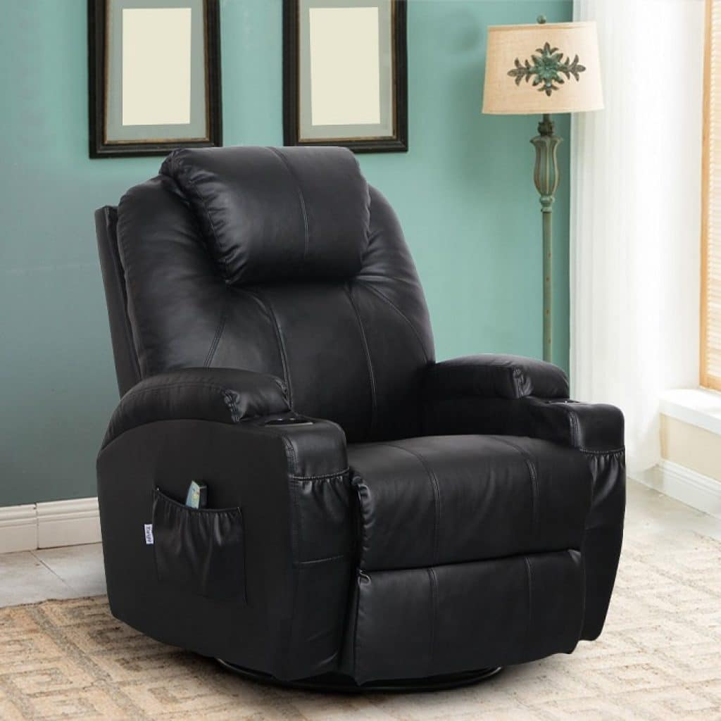 Esright-Massage-Recliner-PU-Leather-Ergonomic-Lounge-Heated-Chair-360-Degree-Swivel-Recliner