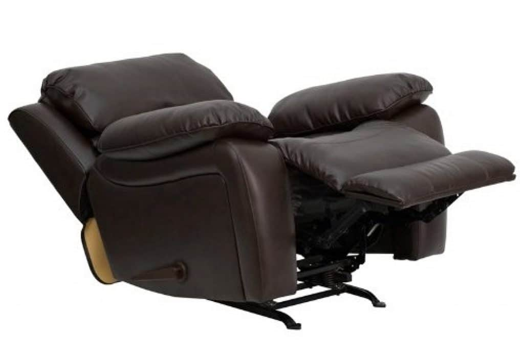 Flash Furniture Brown Leather Rocker Recliner