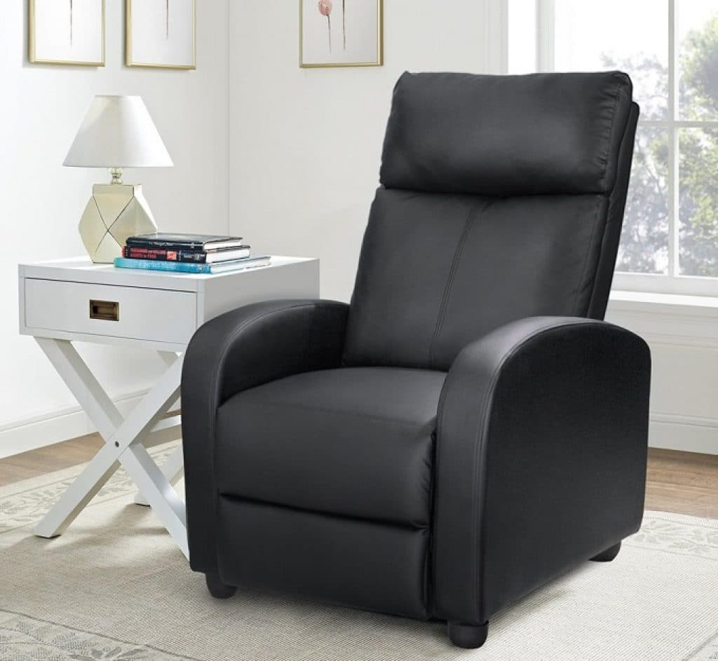 Homall Single Recliner Chair Padded Seat PU Leather Living Room Sofa Recliner