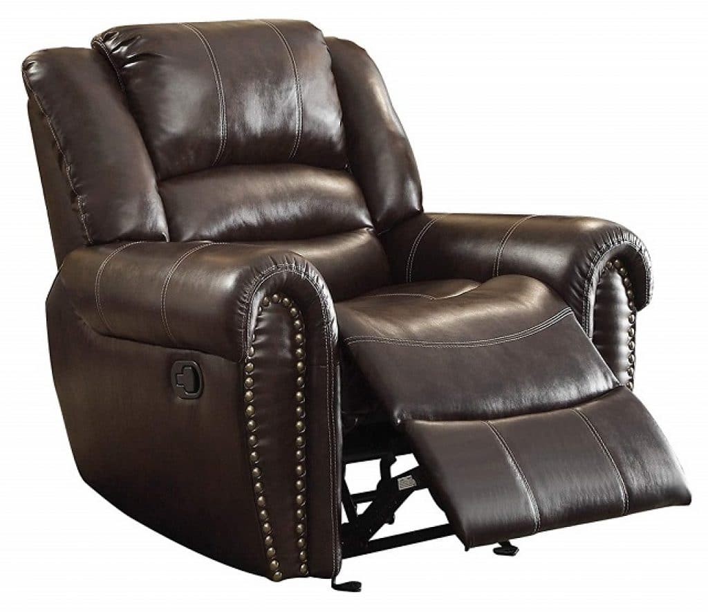 Homelegance Center Hill Bonded Leather Glider Reclining Chair
